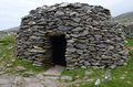 Ancient Stone Beehive Hut on Dingle Royalty Free Stock Photo