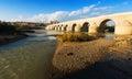 Ancient stone bridge over guadalquivir river in cordoba spain Royalty Free Stock Image