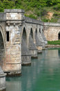 Ancient stone bridge in Visegrad Stock Image