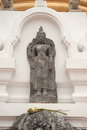 Ancient stone Buddha in temple of Thailland. Royalty Free Stock Photo