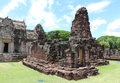 Ancient stone castle in thailand phimai historical park Royalty Free Stock Photography