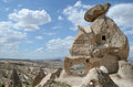 Ancient stone dwellings in cappadocia Stock Images