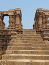 Ancient stone steps, Sun Temple, Konark, India Stock Images