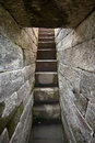 Ancient stone temple steps in Indonesia Royalty Free Stock Photos