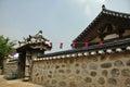 Ancient Stone wall of Korean palace Royalty Free Stock Photo