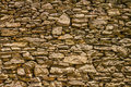 Ancient stone wall near Nonza on Cap Corse in Corsica Royalty Free Stock Photo