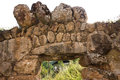 Ancient stonework fragment of fence of karmravor church at ashtaraky armenia Stock Photography