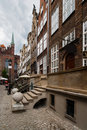 Ancient street an old leading to the temple gdansk poland Stock Photography