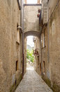 Ancient street in old town of a southern italy village fiumefreddo bruzio Royalty Free Stock Images