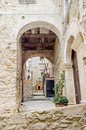 Ancient street in old town of a southern italy village fiumefreddo bruzio Stock Photo