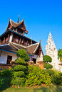 Ancient structure called ho kham luang at the temple wat phan tao in chiang mai province of thailand Royalty Free Stock Photo