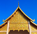Ancient structure called ho kham luang at the temple wat phan tao in chiang mai province of thailand Royalty Free Stock Photos