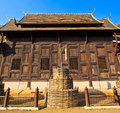 Ancient structure called ho kham luang at the temple wat phan tao in chiang mai province of thailand Stock Photos