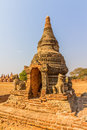 Ancient stupa in old bagan the field myanmar Royalty Free Stock Photos
