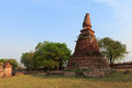 Ancient stupa thailand to believe buddha Royalty Free Stock Image