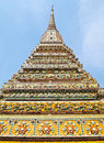 Ancient stupa at Wat Pho in Bangkok , Thailand Stock Photo