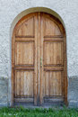 Ancient styled door in slovakia grungy central europe Stock Photos