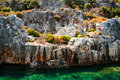 Ancient submerged city in Kekova Royalty Free Stock Photo