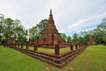 The ancient Sukhothai Historical Park Stock Photos