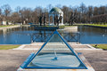 Ancient sundial at a pond in park Kadriorg Stock Photography