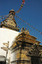 Ancient Swayambhunath stupa at Kathmandu,Nepal Royalty Free Stock Images