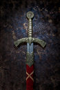 Ancient sword on a beautiful background Royalty Free Stock Photo