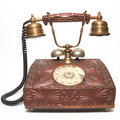 Ancient telephone Royalty Free Stock Photo