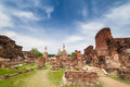 Ancient temple of Ayutthaya Royalty Free Stock Image