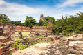 Ancient temple of Ayutthaya Royalty Free Stock Photo
