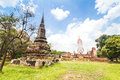 Ancient temple of ayutthaya wat mahathat thailand Royalty Free Stock Photography