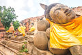 Ancient temple of ayutthaya wat mahathat thailand Royalty Free Stock Photo