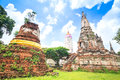 Ancient temple of ayutthaya wat mahathat thailand Stock Photos