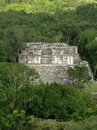 Ancient temple at Calakmul Stock Photo