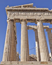 Ancient temple detail acropolis of athens greece parthenon Stock Photos