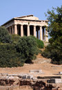 Ancient Temple of Hephaestus Stock Images
