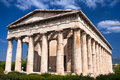 Ancient temple of hephaestus athens in greece is the best preserved greek built bc from the th century until it served as the Royalty Free Stock Images