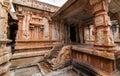 Ancient temple premises of the ramalingeshwara at avani kolar india Stock Photography