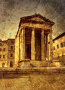 Ancient temple in Pula Royalty Free Stock Photo