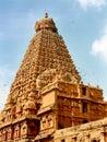 Main tower -vimana- of the ancient  Brihadisvara Temple in Thanjavur, india.
