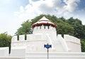 Ancient thai fortress named pom maha kan in bangkok thailand Royalty Free Stock Photo