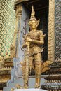 Ancient Thai golden Demon in Temple Royalty Free Stock Image