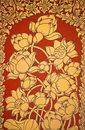 Ancient Thai Mural flower painting of flowers 2 Stock Images