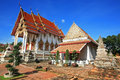 Ancient thai temple named wat chomphuwek thailand Royalty Free Stock Photo