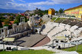 The ancient theatre of philippopolis is a historical building in city center plovdiv bulgaria Royalty Free Stock Images