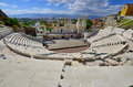 The ancient theatre of philippopolis is a historical building in city center plovdiv bulgaria Stock Photo