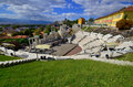 The ancient theatre of philippopolis is a historical building in city center plovdiv bulgaria Stock Image