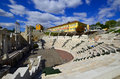 The ancient theatre of philippopolis is a historical building in city center plovdiv bulgaria Stock Photography