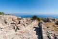 Ancient Thera historic site on Santorini Greece Royalty Free Stock Photo