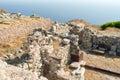 Ancient Thera on Santorini. Royalty Free Stock Photo