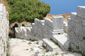 Ancient Thira, Santorini, Greece Royalty Free Stock Photo